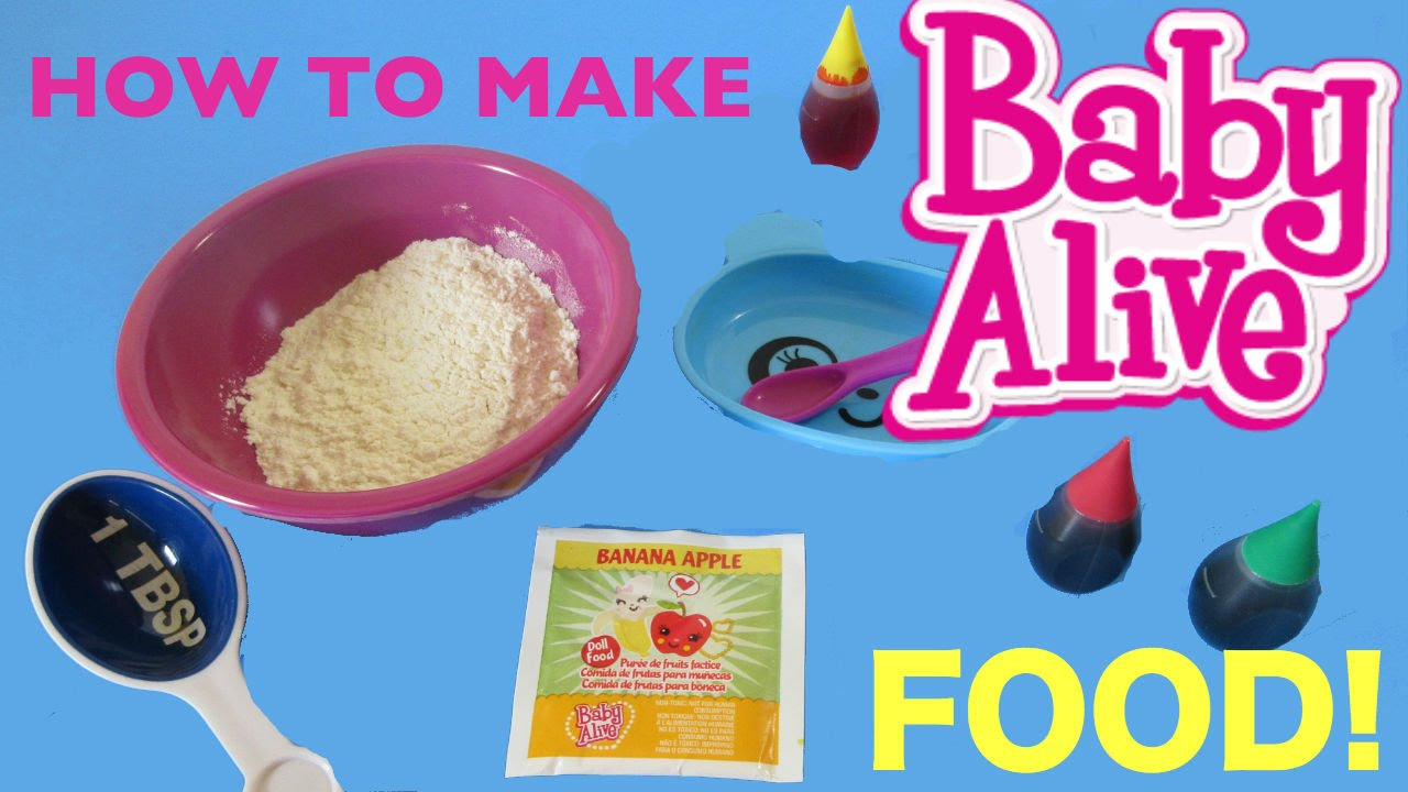 Baby Alive How To Make Baby Alive Food💕 Youtube
