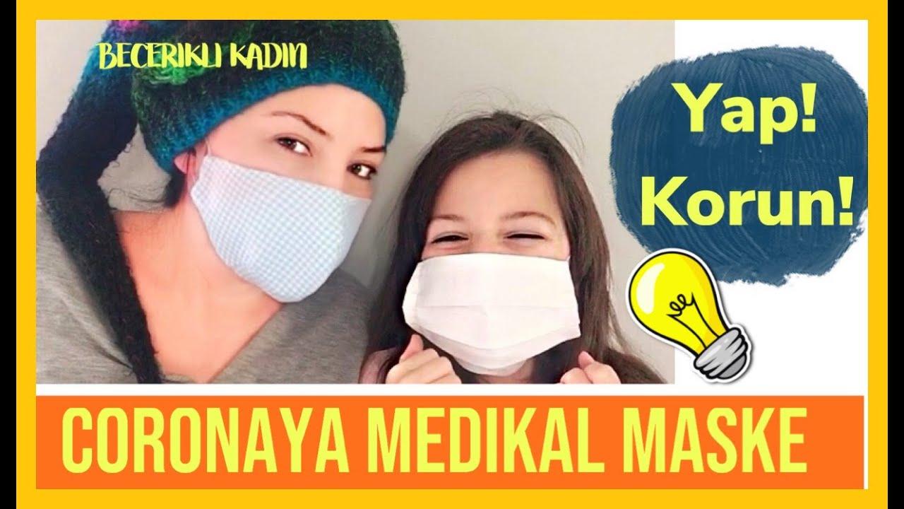 CORONAYA MEDİKAL MASKE YAPIMI Kendin Yap Videoları/Dıy/Idea/Corona Virus Mask Diy/Do It Yourself