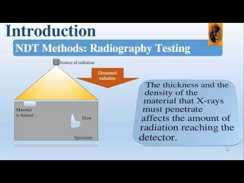 Comparison between Non Destructive Testing techniques: Non Destructive Testing techniques Principals