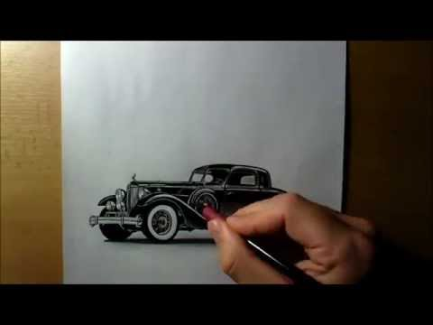 Drawing Classic Car Youtube