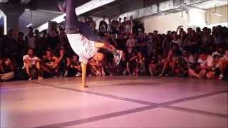 Bgirl Jilou at Outbreak Europe 2014