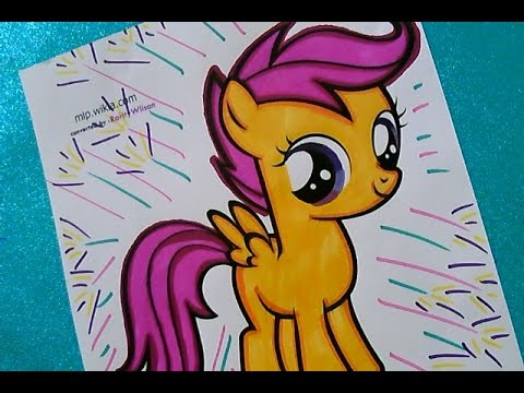 Lets Color Scootaloo From My Little Pony Printable Coloring Pages Fun