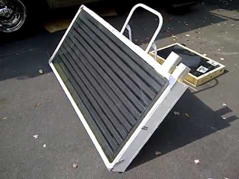 Free Solar heat for your Motorhome, RV, Boat or House - Solar Heater build - Part 1