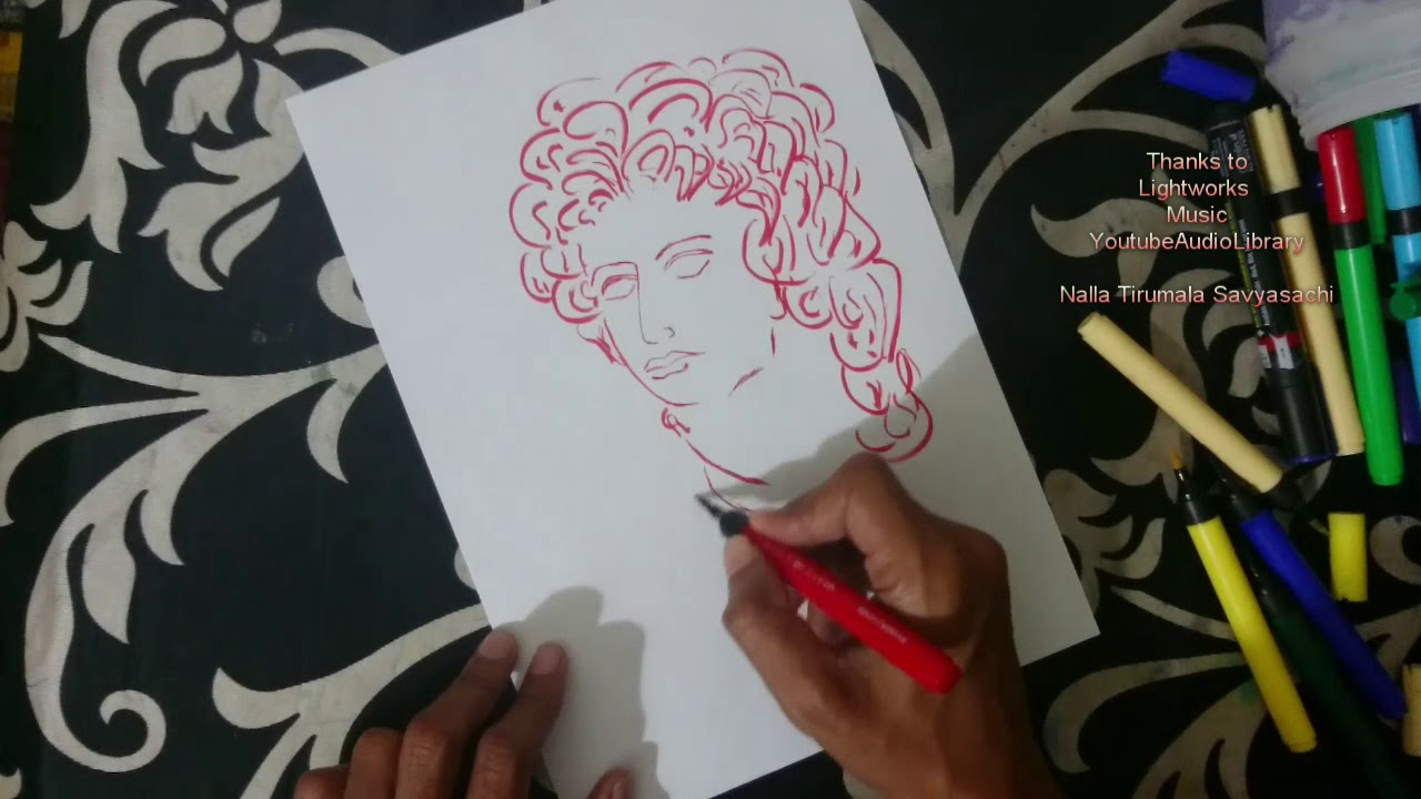 how to draw alexander the great youtube