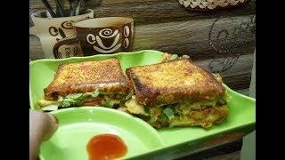Bread omelet sandwich street food style | Bachelor recipe