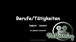 Berufe/Tätigkeiten   Englisch - Deutsch