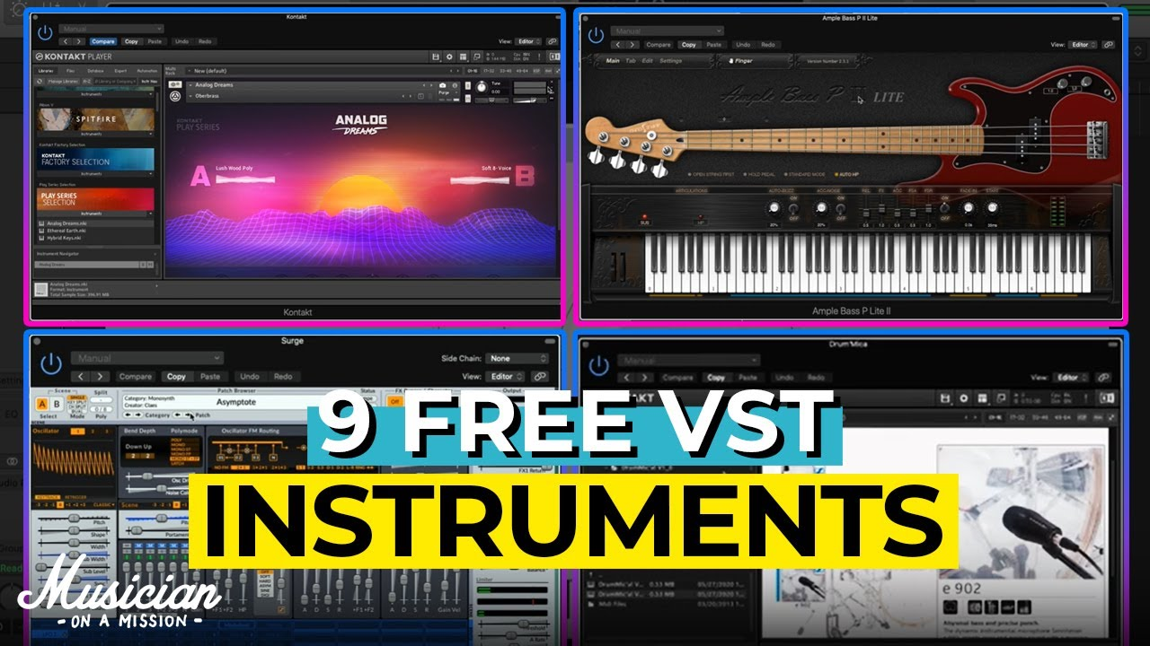 Best Free Vst Instruments 2021 9 Free VST Instruments You Need in 2020   YouTube