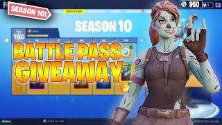 🔵FORTNITE LIVE COUNTDOWN // SOLO PLAYER // SEASON 10 BATTLEPASS GIVEAWAYS // !sponsor