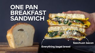 how to make a dope One Pan Egg Sandwich