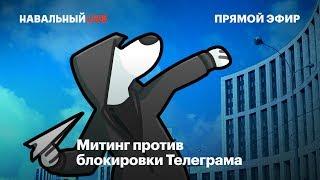 Митинг против блокировки Телеграма
