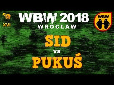 bitwa PUKUŚ vs SID # WBW 2018 Wrocław (o 3 miejsce) # freestyle battle