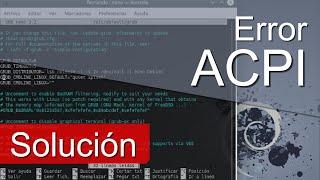 Reparar ACPI Error Debian y Ubuntu