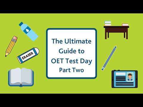 oet ultimate guide to test day part one youtube