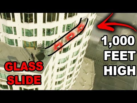 WORLDS SCARIEST SLIDE!! (70 Story High Glass Slide)