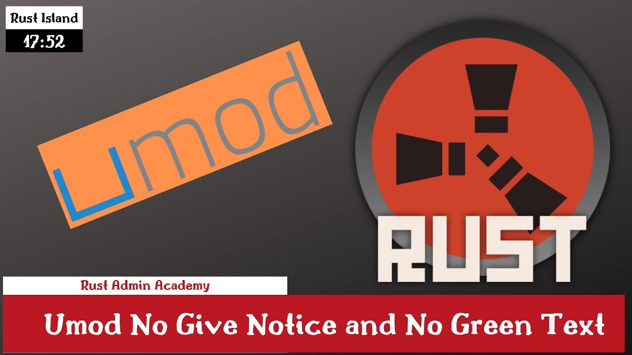 Rust Umod Plugins Tutorial/How to No Give Notive and No Green (Admin Abuse)  Rust Admin Academy