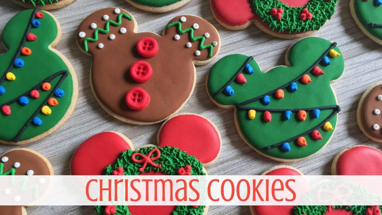 Disney Inspired Christmas Cookies