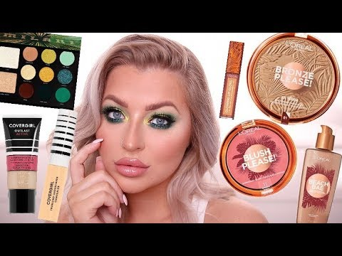 FULL FACE OF WALMART MAKEUP | TRYING NEW AFFORDABLE MAKEUP thumbnail
