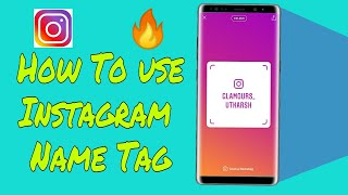 How to use instagram nametag - new insta feature| instagram Name Tag in Hindi 🔥