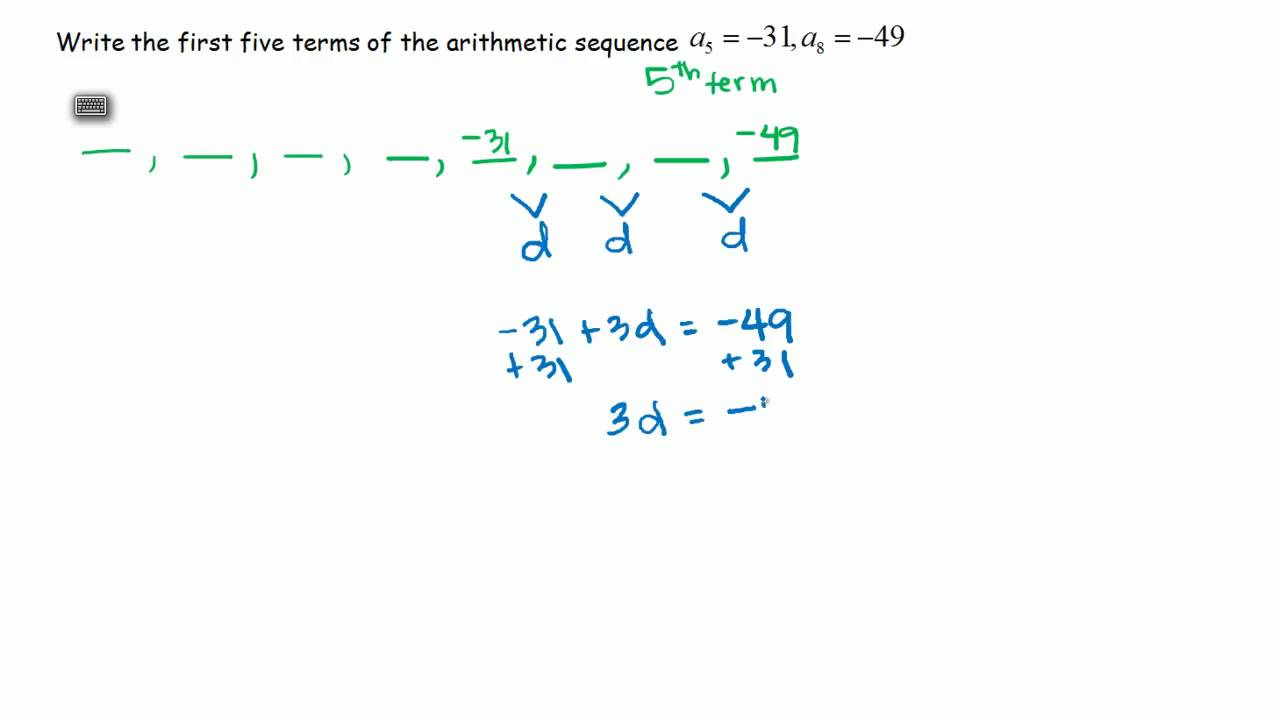 Arithmetic Sequence Problem, Given Two Terms