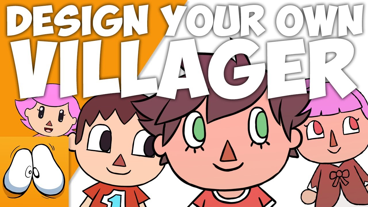 How To Draw Villager Animal Crossing Design Your Own Easy