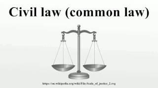 Civil law (common law)