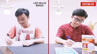lampu led hannochs 10w genius ac dc lampu emergency