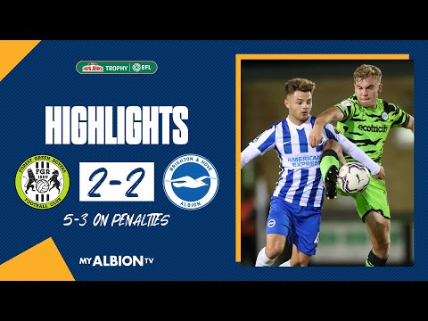 PJT Highlights: Forest Green 2 Albion 2 (Forest Green win 5-3 on penalties)