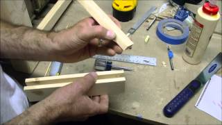 Bamboo Skewer To Pin A Mortise & Tenon Joint