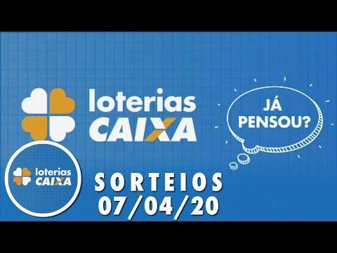 Loterias Caixa: Quina, Dia de Sorte, Lotomania e mais  07/04/2020