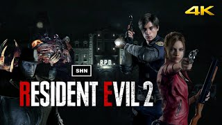 Resident Evil 2 Remake Leon A 4K 60fps HARDCORE Game Movie No Hud Crosshair  No Commentary