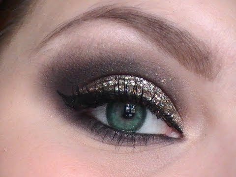 maquillage yeux marrons reveillon
