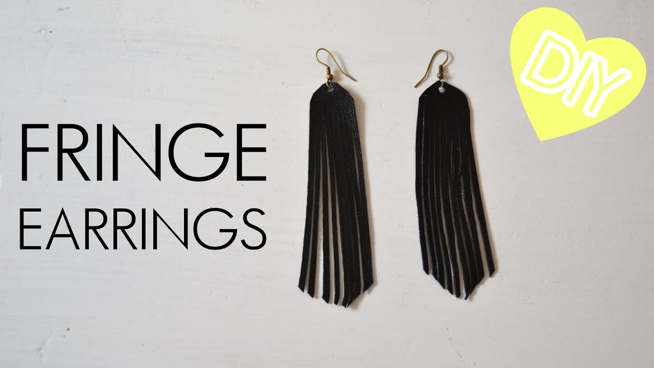 Diy Fringe Earrings From Faux Leather How To Tutorial