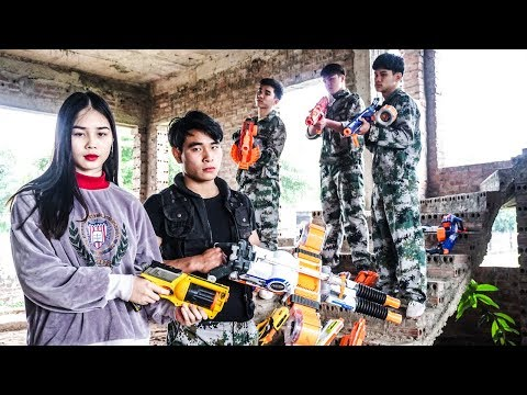 Nerf War: Archer Squad ⚡ Sniper Girl Nerf Guns Traitor Knight Rescue BOSS Nerf Movie