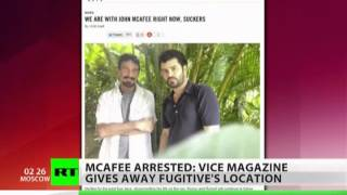 McAfee hideout given away by photo's meta-data