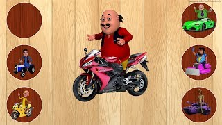 Colors Learn with Puzzle Motu Patlu Chingum Cars Baby Finger Family Song