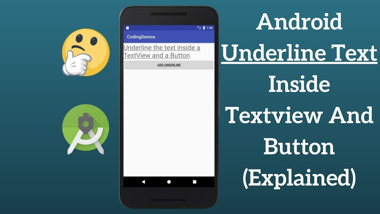 Android Underline Text Inside TextView and Button (Explained)