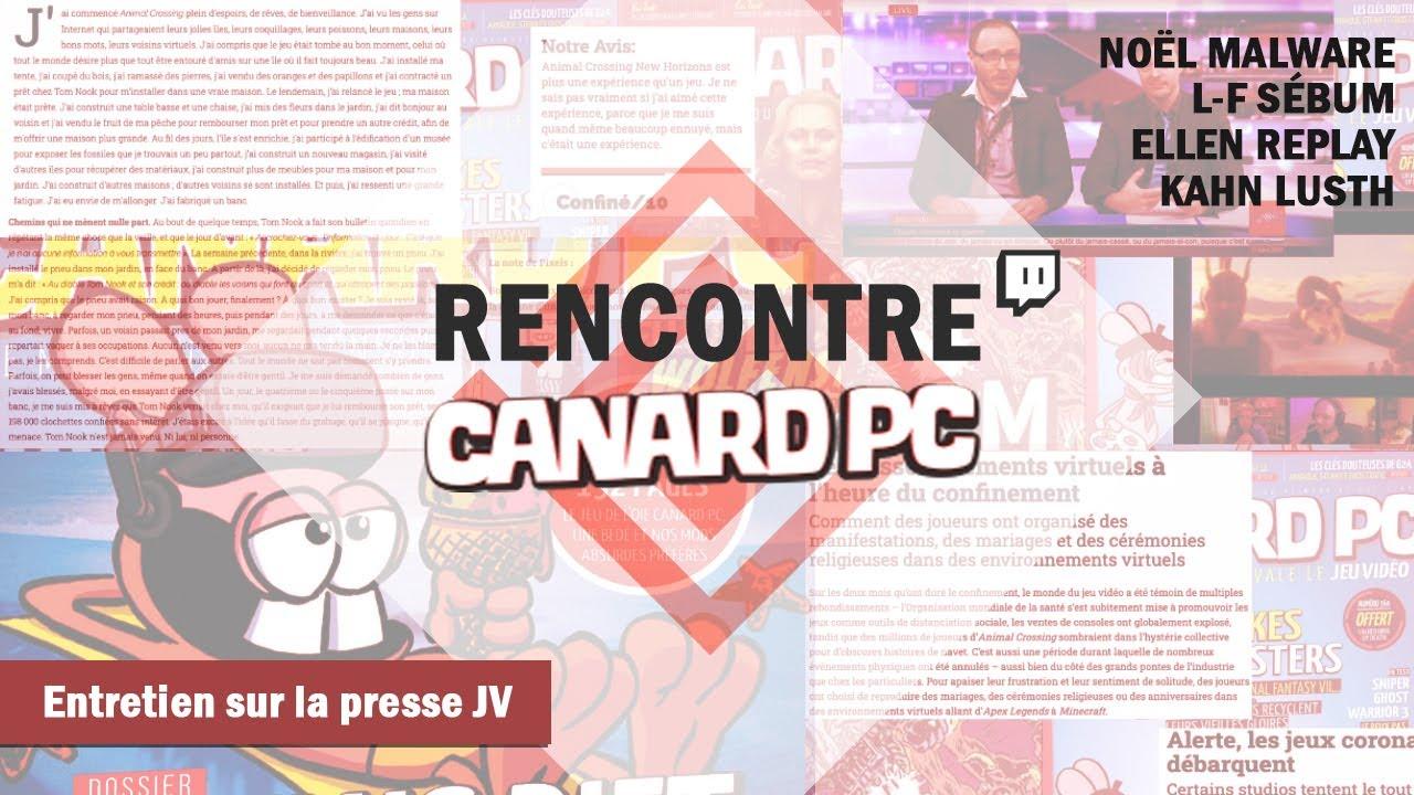 ENTRETIEN - CANARD PC, avec Noël Malware / L.-F. Sébum / Ellen Replay / Kahn Lusth