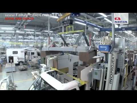How a motorhome is made  Adria Factory Tour
