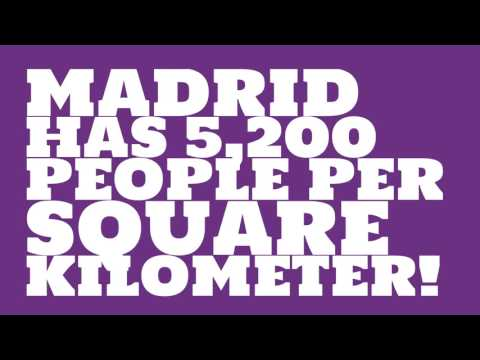 What is the land area of Madrid?