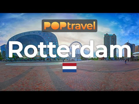 Walking in ROTTERDAM / Netherlands 🇳🇱- City Tour (2019) - 4K 60fps (UHD)
