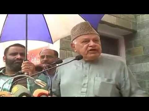 Farooq Abdullah after filing the nomination papers for Lok Sabha seat elections