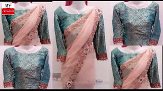 blouse cutting and stitching full tutorial   saree blouse cutting and stitching
