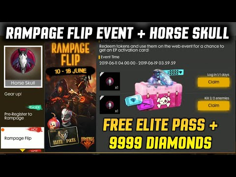 FREE 9999 DIAMONDS 💎💎💎 😲 + Free Elite Pass 🔥 - Freefire Rampage Flip Event Full Details