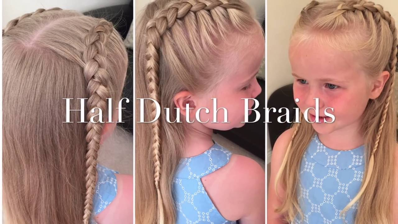 How To Do Half Dutch Braids Tutorial By Two Little Girls Hairstyles