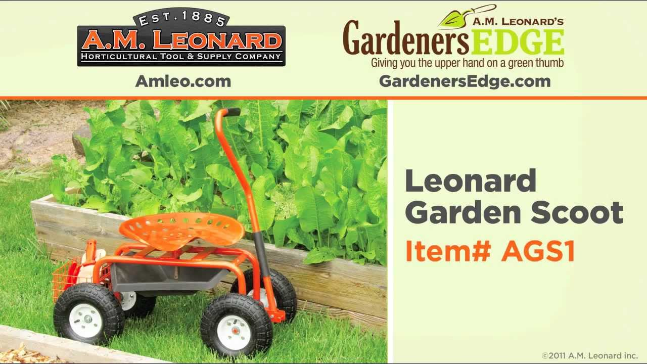 Amleo.com With GardenersEdge.com And The AGS1 Leonard Garden Scoot   YouTube