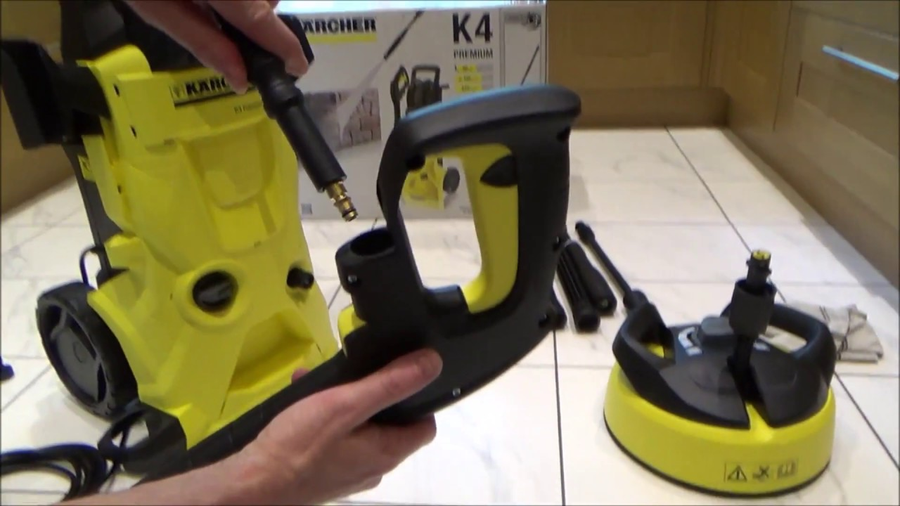 complete setup karcher k4 premium pressure washer youtube. Black Bedroom Furniture Sets. Home Design Ideas