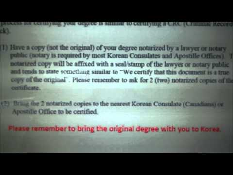 Teach in Korea: How to Apostille Your Diploma and Criminal Record Check
