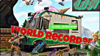Destroying A 100k Health Ice Cream Truck Fortnite World Record