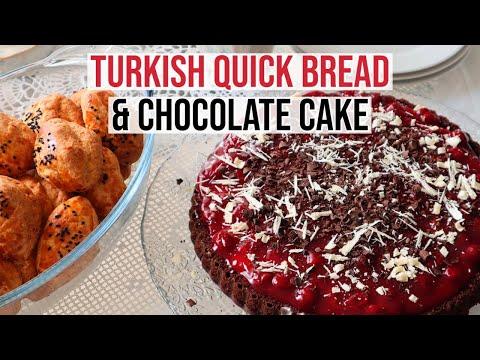 Turkish Quick Bread Pogaca & Chocolate Cherry Cake