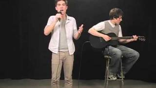 Sam singing and Kurt playing guitar on a Lady Gaga Medley Check out...